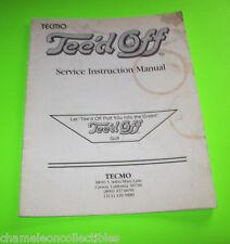 Tee'D Off By Tecmo 1986 Original Video Arcade Game Service Repair Manual