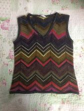 Luxurious MARELLA  Wool Blend Ladies Sparkly Top/ Tank Top-size 8/10. VGC