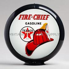 "Texaco Fire Chief 13.5"" Gas Pump Globe w/ Black Plastic Body (G195)"