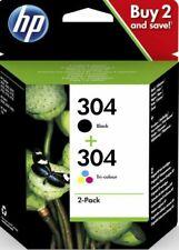HP 304 Multipack Original Cartouches Imprimante Noir-Trois Couleurs Lot de 2