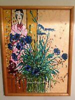 HENRI MATISSE STYLED PORTRAIT WOMAN FLOWERS FAUVIST FRMD