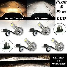 6K 6500K H4 SMD COB 18/24w LED White Headlight HID Hi/Low Light Bulb Kit Set 4