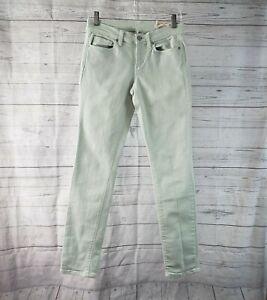 Ann Taylor LOFT Womens Modern Skinny Jeans Sz 2 Green