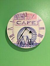 "New Listing11"" Primitive Cafe Clock Quartz Movement' Home Decor"