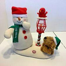 New Listing2013 Hallmark Jingle Pals Singing Snowman Redbird Lamp Post Dog Light Up Dance