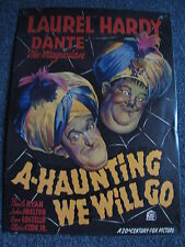 Stan Laurel Oliver Hardy - A Haunting We Will Go Metal Sign Plaque-THICK & Dumb-US
