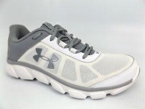 Under Armour Assert 6 Micro G Women's Running Shoes Sz 8.0 M White/Silver, 16282