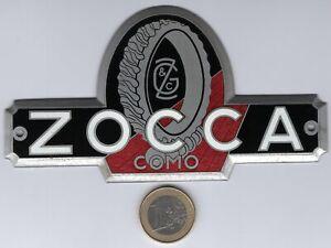Targa smaltata della fabbrica di rettificatrici Zocca (Camerlata, Como)
