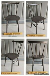 Brand New Enzo Modern Bistro kitchen Dining Chair Painted Farrow & Ball Railings