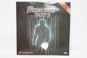 Friday The 13th Part III 3 LaserDisc Extended Play Paramount -232