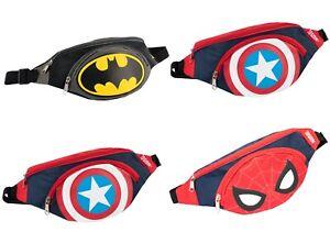Marvel Belt Bum Bag for Boys Capitan America Spiderman Batman Adjustable Belt