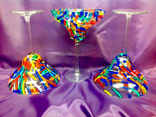 Margarita Stemmed Glasses FIESTA Design (3) 7 inches tall