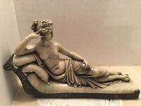 Venus Victorious Semi-Nude Reclining Female Sculpture by Antonio Canova Italy