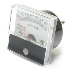 Analog Panel Meter, 18 - 32 Volt DC, 2 inch