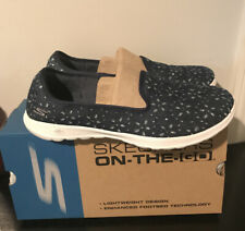 Sketchers Women's On The Go  Life Charm Denim Slip On Sneakers Size 8.5