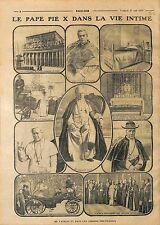 Pope Pius X Papa Pio X Pape Pie X Giuseppe Melchiorre Sarto Rome Roma WWI 1914