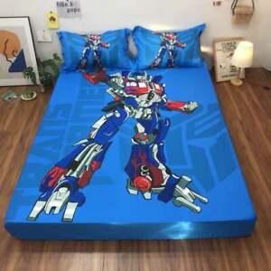 100% Cotton Transformers Optimus Prime Single Bed Quilt Cover Set