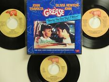 """LOT OF 4 HIT 45's FROM THE MOVIE """"GREASE""""+1P(Copy)[You're The One That]THE 70's!"""