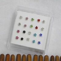 Accessories Jewelry Nose Rings Body Piercing Gems Flower Nose Studs Ring