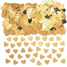 Gold Love Heart Confetti Valentines Party Table Sprinkles Decoration
