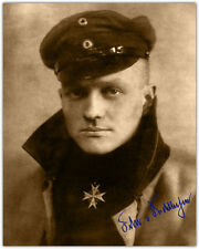 MANFRED VON RICHTHOFEN The Red Baron WWI FIghter Pioneer w/Autograph 8x10 RP