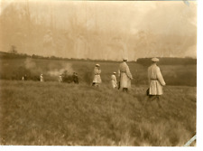 C. Vandyk, United Kingdom, Hunting at Wood Norton  Vintage silver print. Dry sta