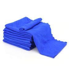 10PCS Microfiber Blue Towel Car Bicycle Home Kitchen Washing Clean Wash ClothLAU