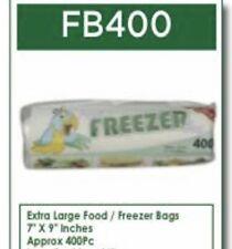 400 Meduim Food Freezer Bags - 5 Rolls In A Pack