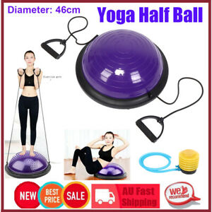 Balancetrainer Gymnastikball Yoga Balance Ball Fitnessball Mit Gurt Inflator HOT