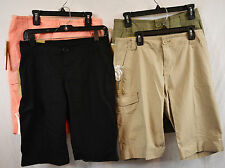 DKNY Women's Roll Tab Bermuda Walking Shorts 98% Cotton 2% Spandex NWT
