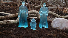 "Custom 6"" Jedi force ghost spirit set of 3  Star Wars black series figure SDCC"