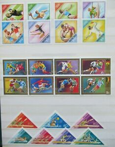 EARLY LOT HUNGARY MAGYAR POSTA SPORT OLYMPIC GAMES VF MNH B349.28 START $0.99