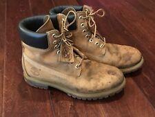 "Timberland 6"" Wheat Premium Khaki Nubuck Waterproof Boots 10061 Men's Size 8 M"