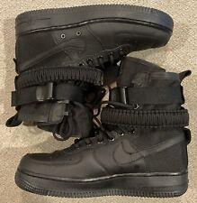 Nike SF Air Force 1 AF1 High Special Field Triple Black 857872-002 Women's Sz 8
