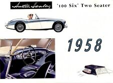 1958 Austin Healey '100 Six' Two Seater, Refrigerator Magnet, 40 Mil thick
