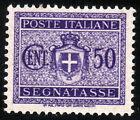 REGNO D'ITALIA - SEGNATASSE - STEMMA SABAUDO CON FASCI - Cent. 50 Violetto -1934