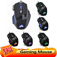 5500DPI LED Optical USB Wired Gaming Mouse 7 Buttons Gamer Computer Mice
