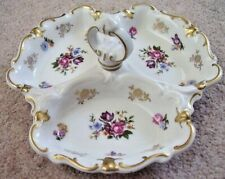 German Dresden,made in GDR porcelain Divided Plate Dish w/Handle