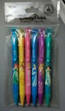 Disney Parks Princess Gem Top 6 Pack Pen Set Ariel Belle Aurora Rapunzel + - NEW
