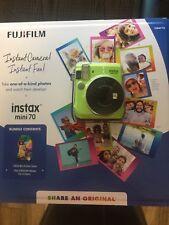 FUJIFILM instax Mini 70 Camera Bundle Kiwi Green + One 10-pack of Instant Film