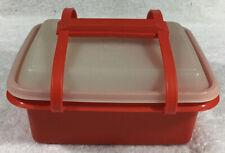 Vintage Tupperware Lunchbox Pak N Carry #1254 Paprika Mint Condition
