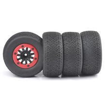 4X 1:10 Short Course Truck Tires&Bead-lock Wheel 12mm Hex For TRAXXAS Slash Car