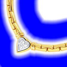 Markenlose Halsketten und Anhänger mit Herz Echtschmuck aus mehrfarbigem Gold
