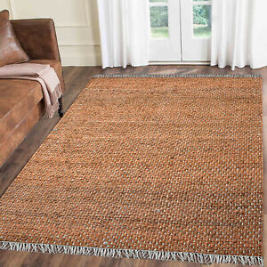 LoomBloom Hand Woven Ineas Flatweave Jute Terracotta Area Rug Multi sizes Modern