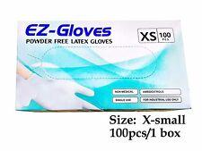 100 pcs Disposable Latex Gloves 5.5 Mil Powder Free - X-Small