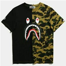 f55a3b59 Mens Bape T Shirt Camo Shark Cotton T-shirt Short SleeveA Bathing Ape Tee  Shir