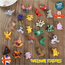 Pokemon Go 24 Mini Figures Kids Cake Toppers With Pikachu Pokeball Toy UK Seller