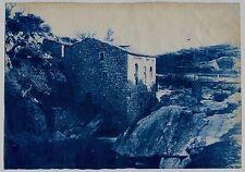 Cyanotype - Corse - Moulin - Tirage d'époque 1890 -