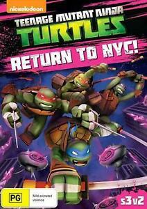 Teenage Mutant Ninja Turtles Return to NYC DVD OVER 2 HOURS  - TMNT REGION 4