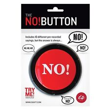 The NO! Button Big Red Button 10 Different Sayings Novelty Office Desk Gift New